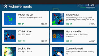 Earn mobile game achievements and rewards when you fly your rocket.